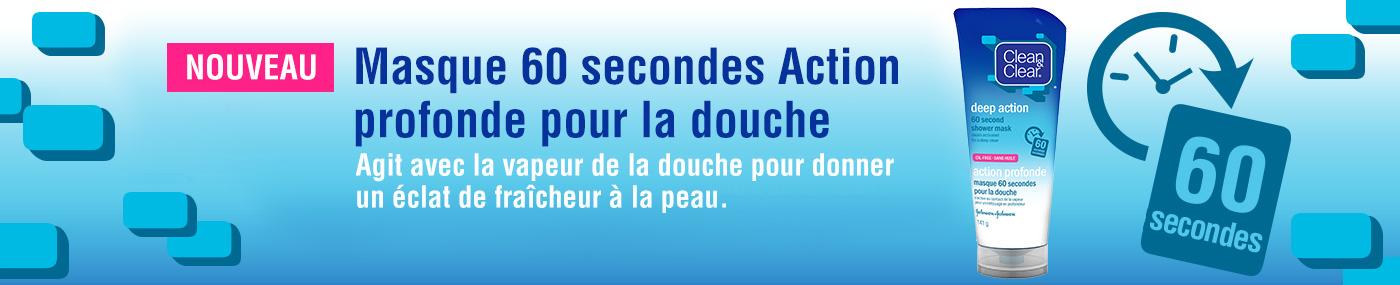 Masque 60 secondes action profonde pour la douche