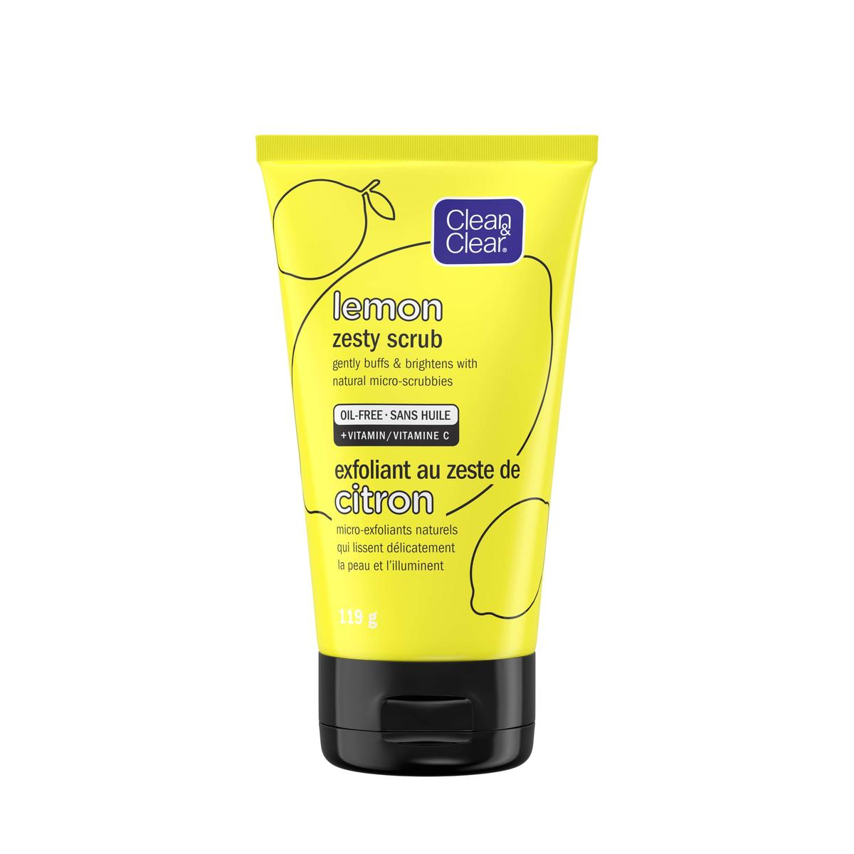 Clean and clear lemon zesty scrub in yellow tube