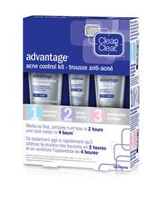 Clean and clear advantage acne control kit box with three products