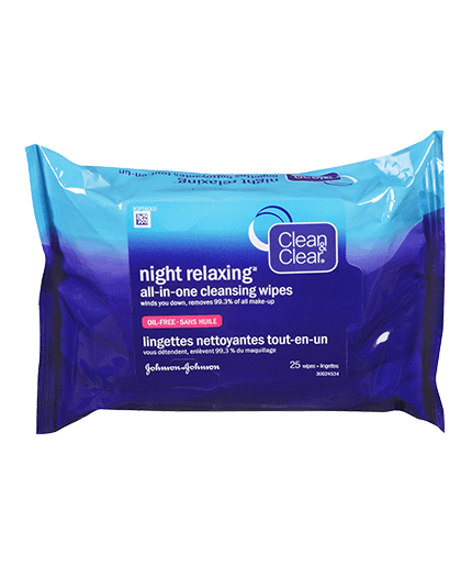 CLEAN & CLEAR NIGHT RELAXING® All-In-One Cleansing Wipes
